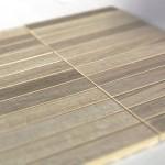 mosaico 30x30 composto da 24 listelli 2,3x15 in porcellanato