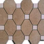 mosaico 35x35 formato da 12 ottagoni e 12 tozzetti